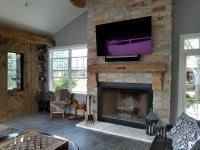 Chilton Rustic Stone was used for this Outdoor Room fireplace.