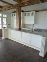 Country Kitchen taking shape at our Chain of Lakes lakefront renovation