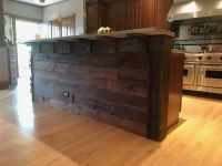 After - this time using rich warm tones found on this century old reclaimed lumber.