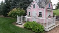 Lets not forget the dreams of our littlest dreamers! This adorable Princess playhouse constructed for this Wisconsin family yard.