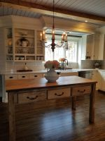 Floating kitchen islands, made to order, hand crafted from reclaimed lumber