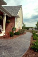 Stamped Concrete sidewalk welcomes guests!