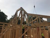 Roof framing continues at Lake Geneva waterfront project 2017!