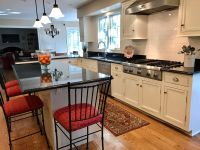 Finishing touches await this recently updated Lake Forest home kitchen