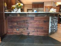 Kitchen Island makeover, facelifted with century old reclaimed lumber
