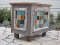 This hand crafted hostess station, will go on to welcome guests to a Lake Geneva Coffee House.