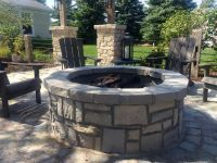 Relax around this virtual maintenance free fire pit!