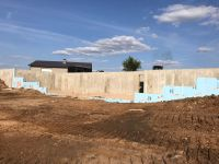 another view of foundation wall on one of 3 new 2017 Lake Geneva projects